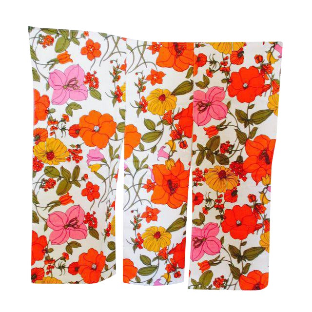 Vintage Mod Flower Wall Panels - A Pair - Image 3 of 11