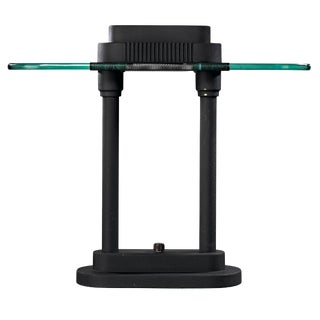 20th Century Modern Metal and Glass Desk Lamp For Sale