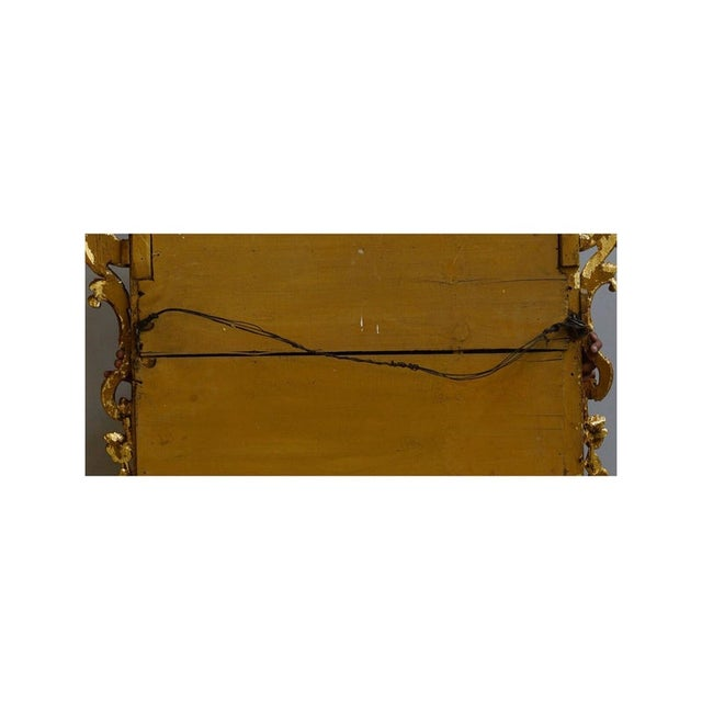 Gold 19th Century Louis XIV Style Gilt Wood and Gesso Mirror For Sale - Image 8 of 13