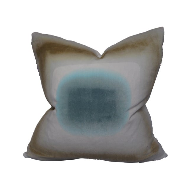 Hand-Dyed Velvet Pillow by Daisy Sullivant III - Image 2 of 3