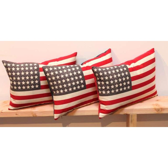 48 Star Parade Flag Pillows with Linen Backing - Image 4 of 5