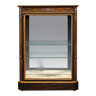 Coromandel Inlaid Vitrine For Sale