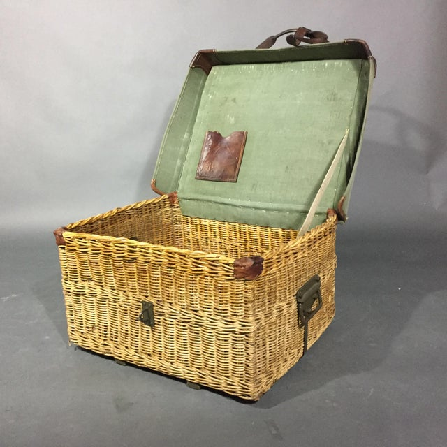 Industrial Vintage Swiss Army Military Basket, 1940s, Switzerland For Sale - Image 3 of 10