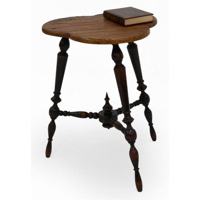 Sarreid Ltd. Turned Leg Tripod Side Table - Image 4 of 5