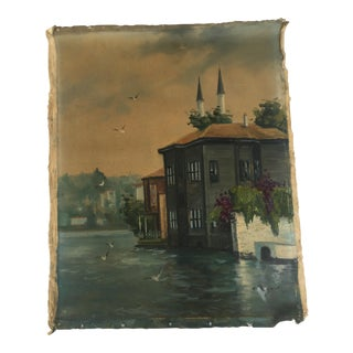 Antique Turkish Oil Painting For Sale