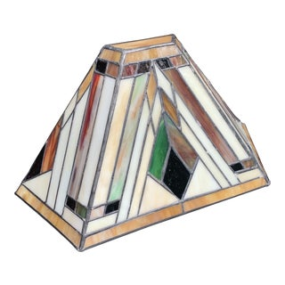 1960s Stained and Leaded Glass Wall Light For Sale
