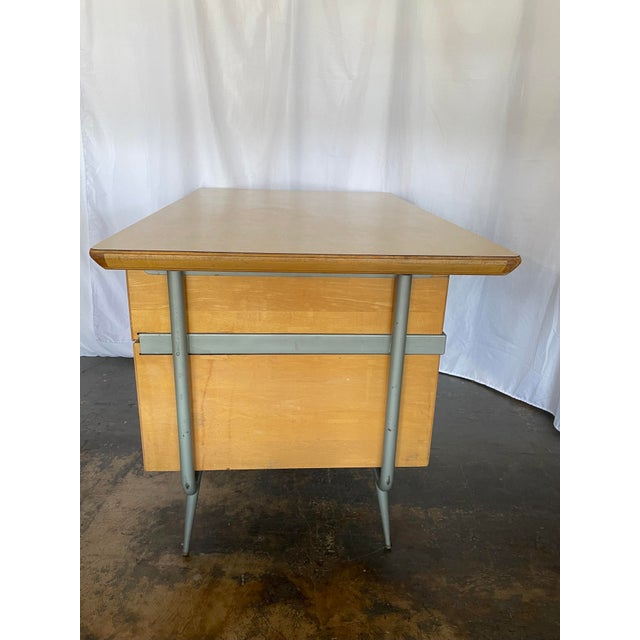 1950s 1950s Brunswick & Co Mid Century Writing Desk For Sale - Image 5 of 13