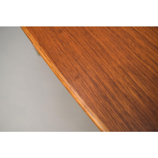 Brown Folke Ohlsson Teak, Oak & Cane Side Table For Sale - Image 8 of 8
