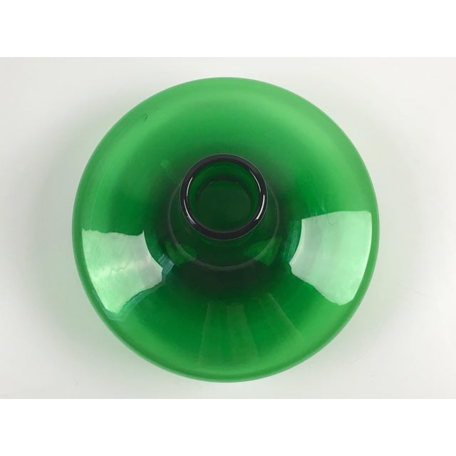 Mid-Century Modern Blenko Green Glass Decanter - Image 4 of 7