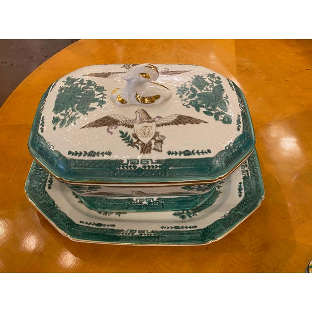 Green Early 20th Century Green Chinese Fitzhugh Tureen and Under Plate For Sale - Image 8 of 9