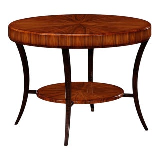 Art Deco Jonathan Charles Santos Collection Santos Rosewood Satin Foyer Table For Sale