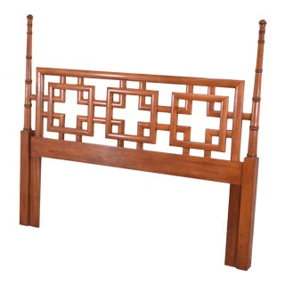 Henry Link Mandarin Collection Asian Inspired Queen Poster Headboard For Sale