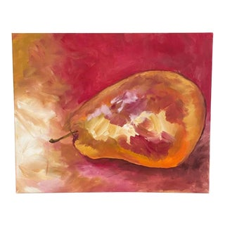 """""""Ripened in the Sun"""" Contemporary Abstract Still Life Acrylic Painting by Jennifer Hopkins-Wilcox For Sale"""