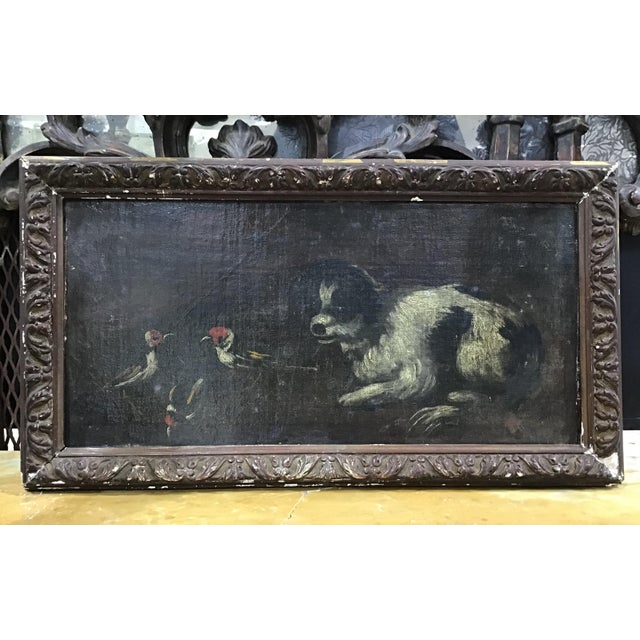 18th Century Italian Dog Painting For Sale - Image 11 of 11