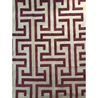 Ming Thibaut Trail Dynasty Collection Cut Velvet Fabric - 1 3/8 Continuous Yards For Sale