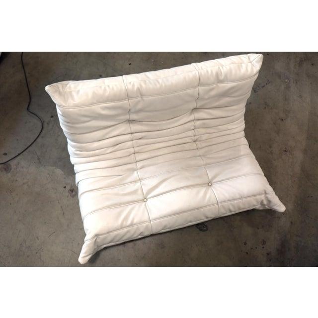 Vintage White Ligne Roset Togo Sofa Set Designed by Michel Ducaroy For Sale In Los Angeles - Image 6 of 13