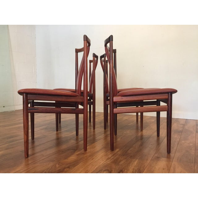 Henning Sorensen Rosewood & Leather Dining Chairs - Set of 4 - Image 11 of 11