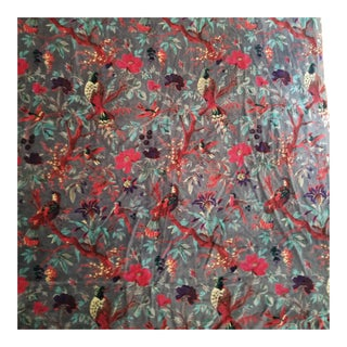 Chinoiserie Cotton Velvet Fabric - 10 Yards For Sale
