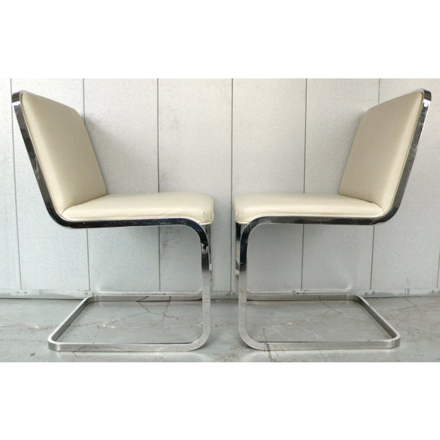 Modern Set of Four Cantilever Chairs by Brueton For Sale - Image 3 of 8