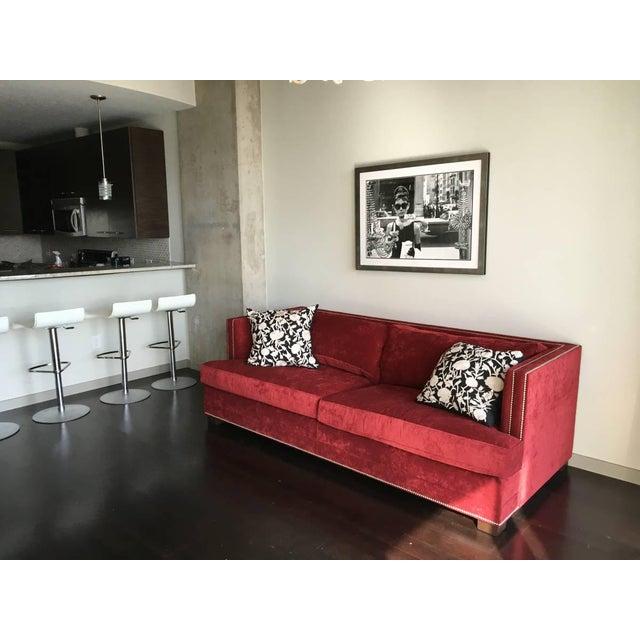 """Mitchell Gold 94"""" Keaton Sofa in Eller-Crimson For Sale In Dallas - Image 6 of 6"""