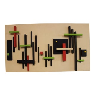 1971 Vintage Abstract Wall Sculpture For Sale