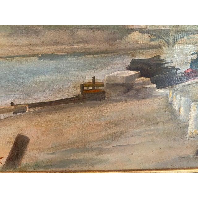 Vintage Signed Oil on Canvas Framed Painting For Sale - Image 4 of 13