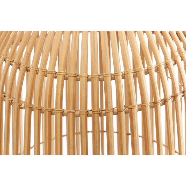 1960s Openwork Wicker Hanging Lampshade For Sale - Image 4 of 8