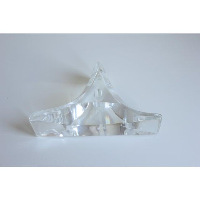 Sculptured Lucite Candleholder - Image 4 of 8