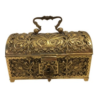 Antique Erhard & Sohne Brass Bronze Domed Box For Sale