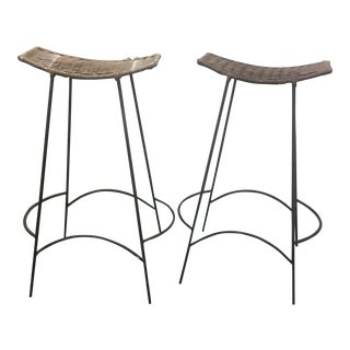 1960s Mid-Century Modern Arthur Umanoff Bar Stools - a Pair For Sale