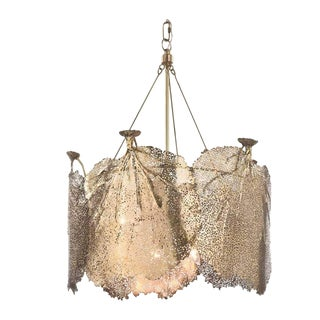 Regina Andrews Brass Sea Fan Chandelier For Sale