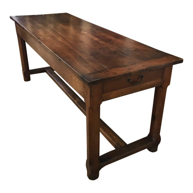 French 19th Century Walnut Farmhouse Table From Provence For Sale