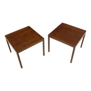 Vintage Mid Century Dunbar Square Lamp End Tables- a Pair For Sale