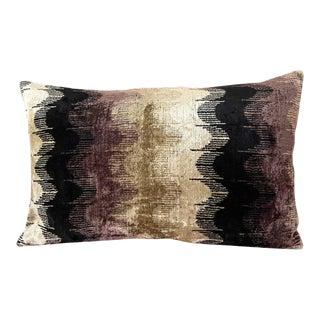 Granite Boulder Silk Velvet Lumbar Pillow For Sale