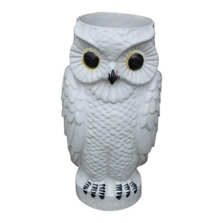 Vintage Ceramic Owl Umbrella Stand
