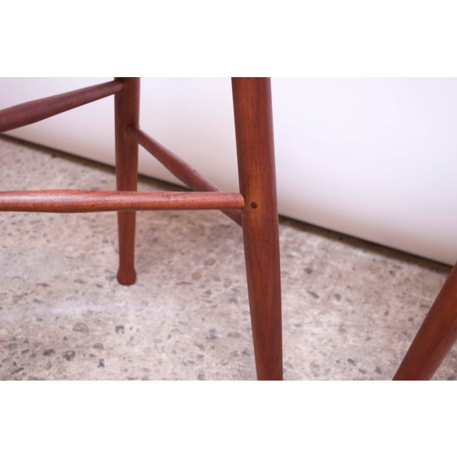 Vintage Solid Walnut Studio Craft Bar Stools by David Scott - a Pair For Sale - Image 10 of 13