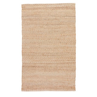 Jaipur Living Braidley Natural Solid Beige Area Rug - 5′ × 8′ For Sale