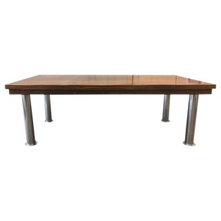 Rosewood and Chrome Conference Table For Sale