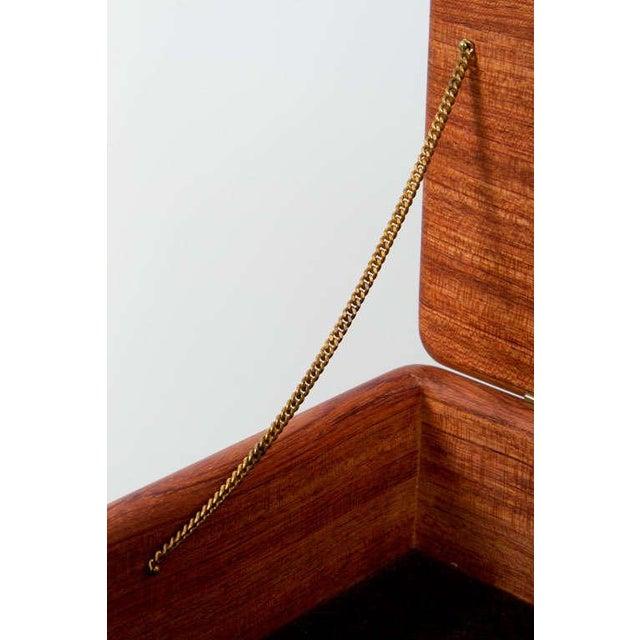 Rectangular Teak Jewelry Box For Sale - Image 4 of 9
