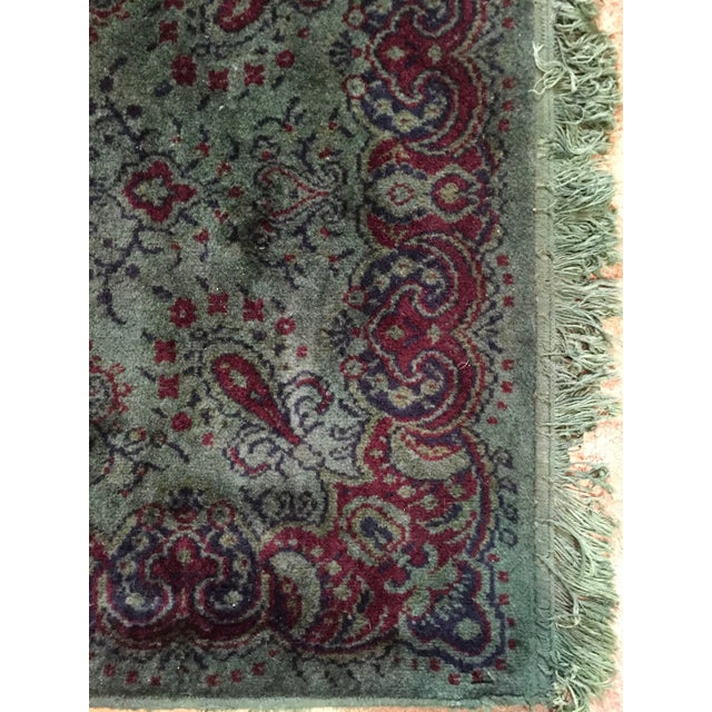 Vintage Over Dyed Distressed Green Wool Rug - 3 x 5 - Image 4 of 7