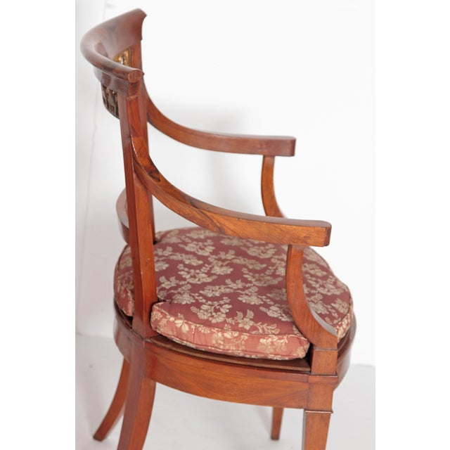 Italian Pair of Italian Neoclassical Armchairs For Sale - Image 3 of 13