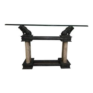 Barcelona Bronze Lion Console Table For Sale