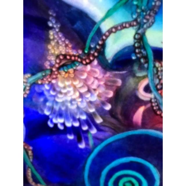 "2010s Signed Original Ulla Darni Illuminating Flat Glass Painting ""Han and Hanini"" For Sale - Image 5 of 11"