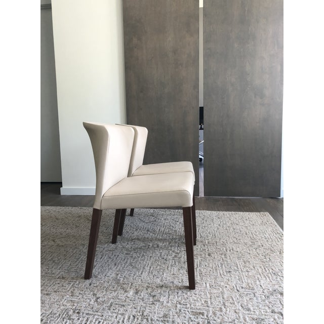 Crate & Barrel Crate & Barrel Italian Mid-Century Modern Dining Chairs - A Pair For Sale - Image 4 of 6