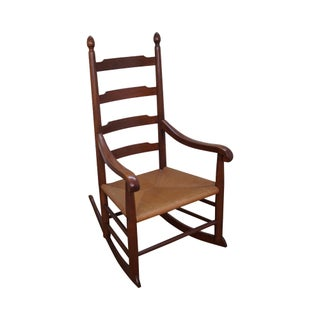 Solid Walnut Shaker Style Rocking Chair For Sale
