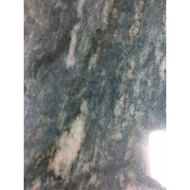 Cast Iron 'Azul Do Mar' Quartzite French Bistro Dining Table For Sale - Image 7 of 12