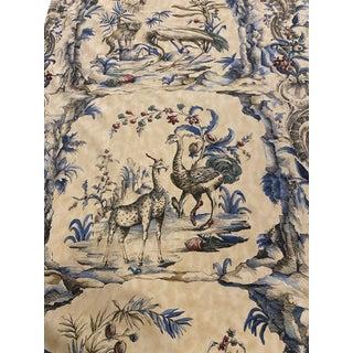 1980s Lorenzo Rubellie La Menagierie Fabric - 7 Yards For Sale