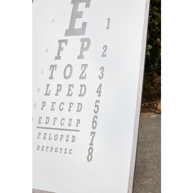 Mid-Century Modern Midcentury Eye Chart Mirror For Sale - Image 3 of 13