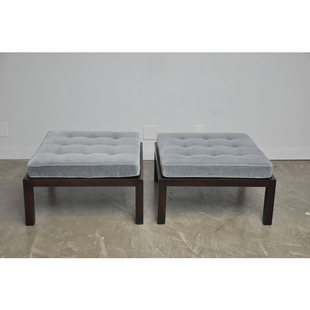 Mid-Century Modern 1950s Dunbarby Edward Wormley Large Scale Ottomans - a Pair For Sale - Image 3 of 5