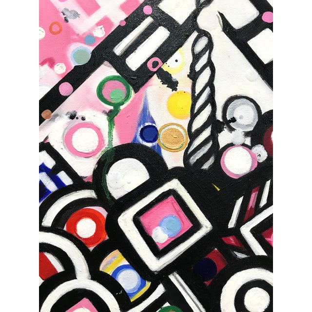 Natasha Mistry Contemporary Modern Diamond Oil Painting For Sale - Image 4 of 10
